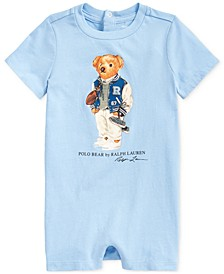 Baby Boys Polo Bear Cotton Jersey Shortall
