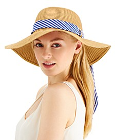 INC Printed-Band Roll-Up Floppy Hat, Created for Macy's