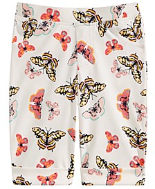 Little Girls Butterfly-Print Bermuda Shorts, Created for Macy's