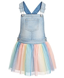 Toddler Girls Denim Rainbow Skirt