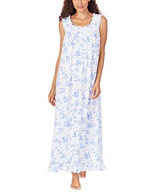 Floral-Print Pointelle Ballet Nightgown