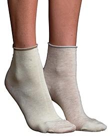 Women's Mismatched Silk Anklet Socks