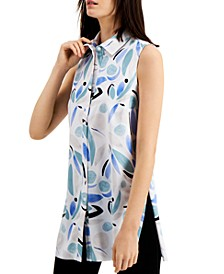 Petite Printed Tunic Shirt, Created for Macy's