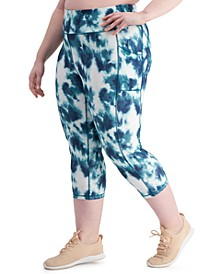 Plus Size Tie-Dyed Leggings