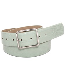 INC Croc-Embossed Panel Belt, Created for Macy's