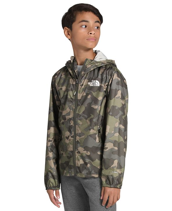 The North Face Big Boys Camo-Print Flurry Windbreaker