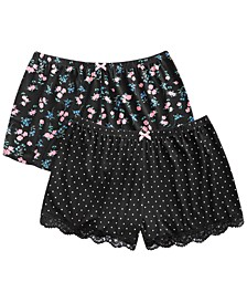 Rylee 2-Pk. Printed Sleep Shorts