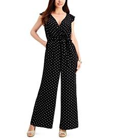 Polka-Dot Sleeveless Jumpsuit, Created for Macy's