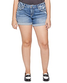 Trendy Plus Size Denim Boyfriend Shorts