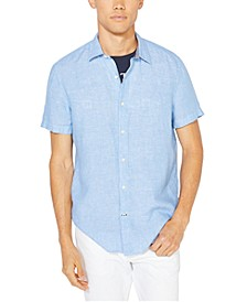 Men's Classic-Fit Solid Linen Shirt