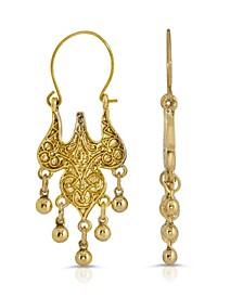 Islamic Wire Hoop Drop Earrings