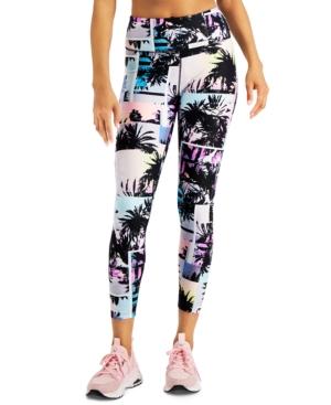 Calvin Klein Performance Printed High-waist Leggings In Sunset Stripe Sakura Combo