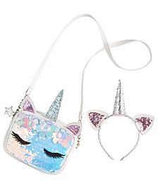 Little Girls Unicorn Purse & Headband