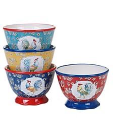 Morning Bloom 4-Pc. Ice Cream Bowls asst.