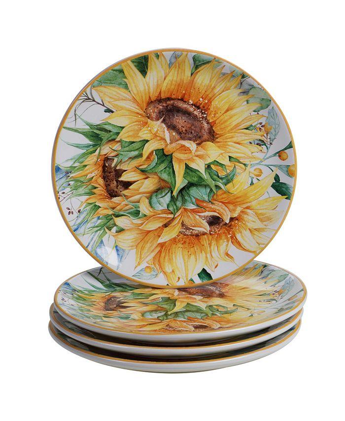 Certified International - Sunflower Fields 4-Pc. Salad Plates