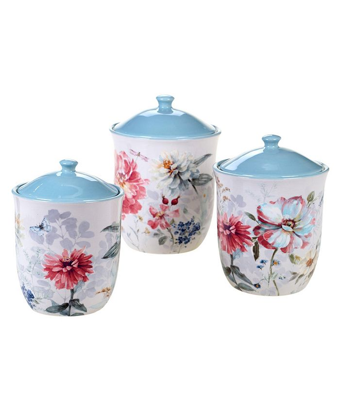 Certified International - Spring Bouquet 3-Pc. Canister Set