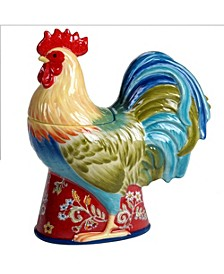 Morning Bloom 3-D Rooster Cookie Jar