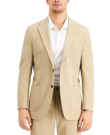 THTECH Men's Modern Fit Stretch Khaki Suit Jacket