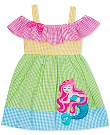 Little Girls Seersucker Mermaid Dress