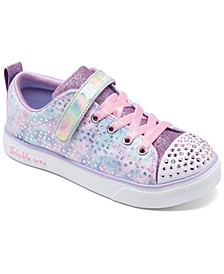 Little Girls Twinkle Toes Twinkle Breeze 2.0 Unicorn Magic Light-Up Stay-Put Closure Casual Sneakers from Finish Line