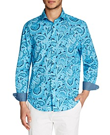 Men's Slim-Fit Paisley Shirt