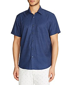 Men's Slim-Fit Performance Dot Shirt