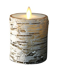 """4.5"""" Birch Candle with Moving Flame Technology"""