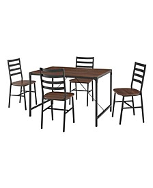 5-Piece Industrial Angle Iron Dining Set