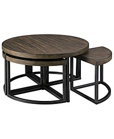 Johurst Casual Cocktail Table with 4 Stools - 5 Piece Set