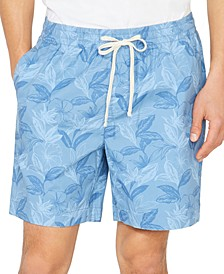 "Men's Big & Tall Floral Leaf Boardwalk 7"" Shorts"