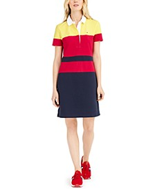 Colorblocked Polo Dress