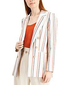 Striped Peak-Lapel Blazer, Created for Macy's