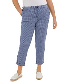Plus Size Hampton Gingham Cuffed Pants, Created for Macy's
