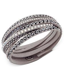 Swarovski  Slake Deluxe Crystal Stud Wrap Bracelet