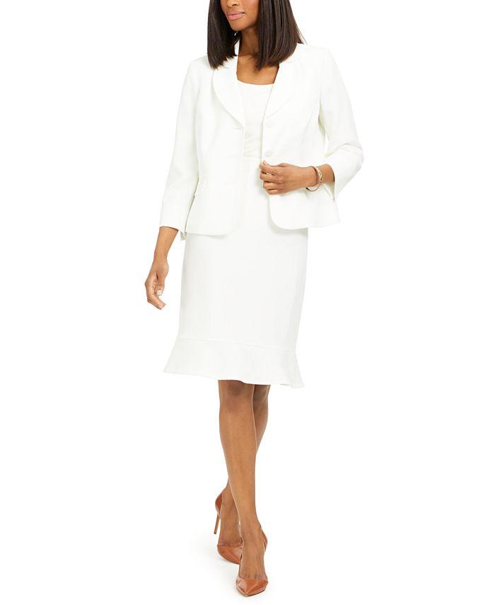 Le Suit - Flared-Hem Skirt Suit
