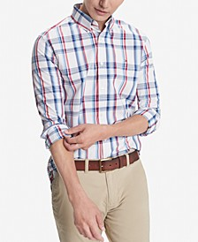 Men's Custom-Fit Stretch Sadler Plaid Shirt