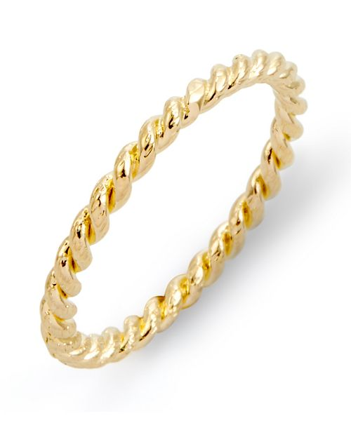 brook & york Liv Rope 14K Gold Plated Ring