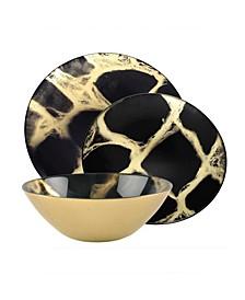 12 Piece Marble Dinnerware Set