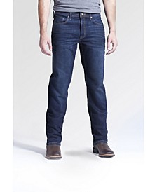 Men's Boot Cut Fit Performance Stretch Denim Jeans, Lincoln Wash