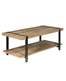 Bourbon Foundry Coffee Table, Wood and Inset
