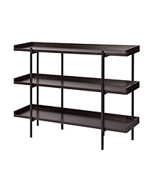 Modern Etagere Wood and Steel 3 Shelf Display