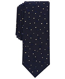 INC Men's Skinny Textured Dot Tie, Created for Macy's