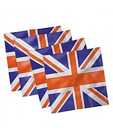 """Union Jack Set of 4 Napkins, 12"""" x 12"""""""