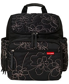 Floral Quilted Diaper Backpack