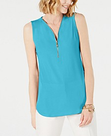 Sleeveless Zip Top, Created for Macy's