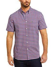 Men's Regular-Fit Check Oxford Short Sleeve Shirt