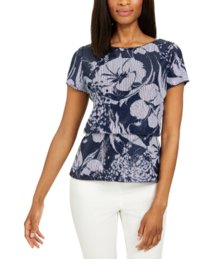 Adrianna Papell SEQUINED BLOUSON TOP