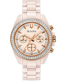 Women's Chronograph Blush Ceramic Bracelet Watch 37mm, Created for Macy's