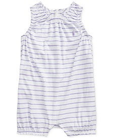 Baby Girls Striped Cotton Bubble Shortall