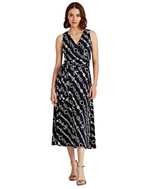 Print Tie-Waist Jersey Dress, Regular & Petite Sizes